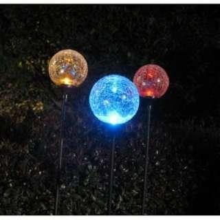 LED LIGHT BALL LAMP BACKYARD LIGHTS SOLAR GARDEN PORCH LIGHTING COLORS