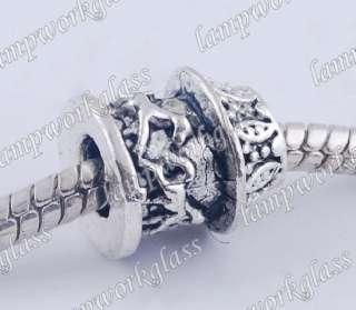 30PCS Tibetan silver European spacer Bead fits bracelet