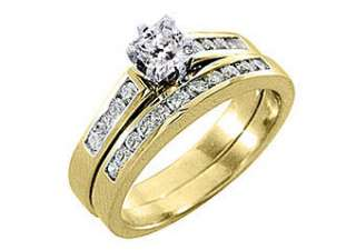 5CT WOMENS DIAMOND ENGAGEMENT RING WEDDING BAND BRIDAL SET SQUARE