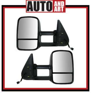 Set Power Telescopic Tow Heated Mirrors 99 02 Chevy GMC Pickup Truck
