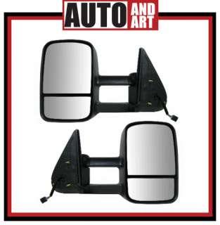 Set Power Telescopic Tow Heated Mirrors 99 02 Chevy GMC Pickup Truck