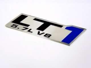 GM CHEVY CHEVROLET LT1 5.7L V8 ENGINE EMBLEMS BADGE CHROME SILVER