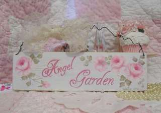 HP Chic Angel Garden Sign Sweet Shabby Romantic Cottage Country |