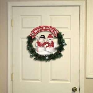 Alabama Crimson Tide Happy Holidays Wreath  Sports