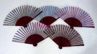 WHOLESALE20pc Chinese handmade Silk folding Bamboo Fan