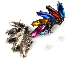 NEW fashion angel fly wings crystal multicolor rhinestone earrings
