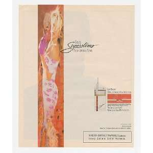 Superslims Cigarette Lady Smoking Print Ad (21469): Home & Kitchen