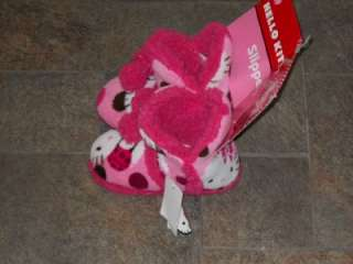 NWT Hello Kitty Slipper Boots Soft Red Pink cute 11 12