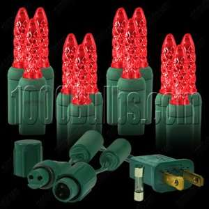 100 LED Christmas Lights   Red   Commercial Mini Light System Kit with