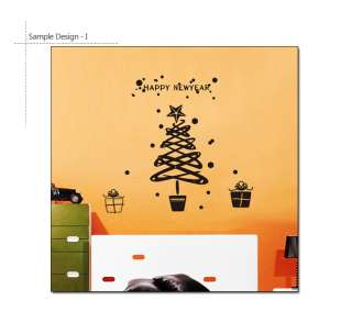 Mini Christmas Tree Wall & Window Decor Sticker Decals