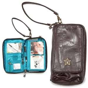 Ju Ju Be Legacy Collection Be Major Brown Teal Wristlet