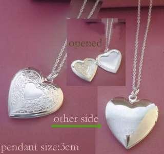 best silver openable heart locket necklace