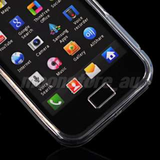 SILICONE CASE COVER + SCREEN FOR SAMSUNG S5830 GALAXY ACE CLEAR