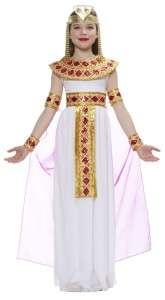 CLEOPATRA Pink Egyptian Goddess Child Costume Girl Dress Gold
