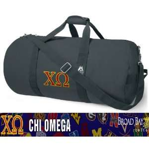 NCAA Logo Chi Omega DUFFLE Travel / Fitness / Overnight Bag Luggage