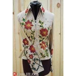 Hilason Hand Painted Showmanship Rail Jacket Shirt   Xs