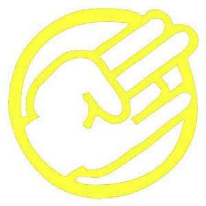SHOCKER CIRCLE CUSTOM   Vinyl Decal Sticker 5 YELLOW