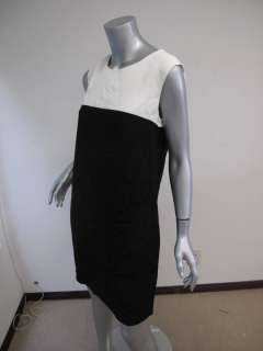 NWT Reiss Cream/Black Color Block Penny Dress US 6/UK 10 $285