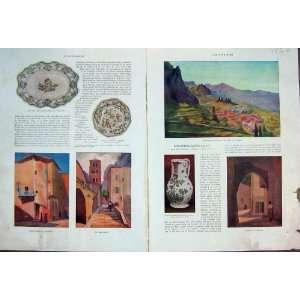 Moustiers Verdon Painting Colour Art French Print 1932