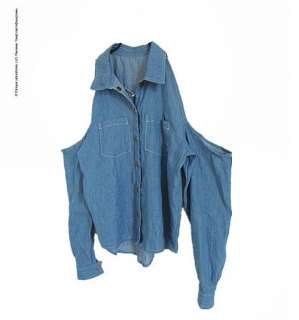 Sexy Womens Blue Denim Shirt Fashion Long Sleeve Denim Blouses M L XL