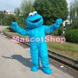 SESAME STREET COOKIE MONSTER ADULT MASCOT COSTUME SUIT