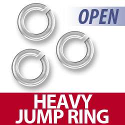 Our heavy open jump rings are made from .925 sterling silver, the