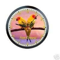 Sun Conure Parrot Bird Pet Store Sign Wall Clock #763