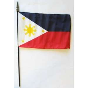 Philippines   8 x 12 World Stick Flag: Patio, Lawn