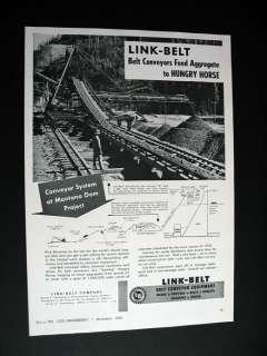 Link Belt Conveyors Hungry Horse Montana MT Dam 1950 Ad
