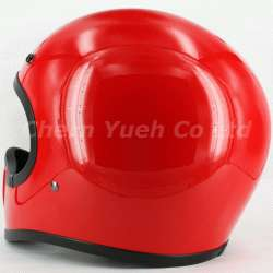 Red Full Face Helmet Motorcycle ATV Off Road Motocross Vintage Style