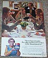 1978 Maxwell House A.D.C. coffee   CORA   Vintage AD