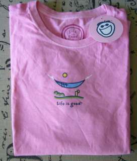 Life is good Womens Crusher tee   Chill Hammock   size S   New w/tags