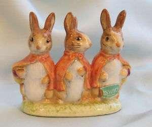 BEATRIX POTTER FLOPSY MOPSY COTTONTAIL Rabbits GOLD BP2 STICKER