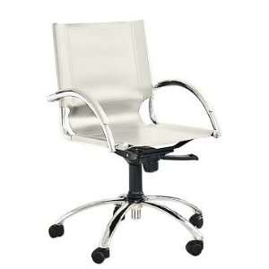 west elm Leather Swivel Desk Chair, White: Furniture & Decor