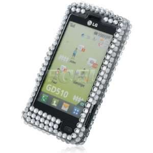 Ecell   SILVER STAR 3D CRYSTAL DIAMOND BLING CASE FOR LG