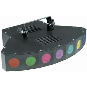 com MBT Lighting LEDSPRAYDMX_113741 7 Lens LED Derby DMX Stage Light