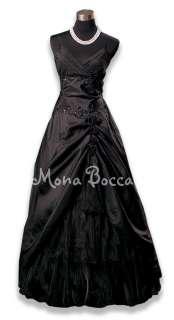 Victorian styled Black Ball Evening Cruise Dress Gown Burlesque dress