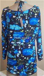 Everyday Womens Plus Size Clothing Black Blue Shirt Top Blouse XL 1X
