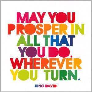 Greeting Card May You Prosper   King David Health & Personal Care