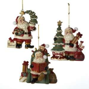 Club Pack of 12 Santa Claus Classics Christmas Scene