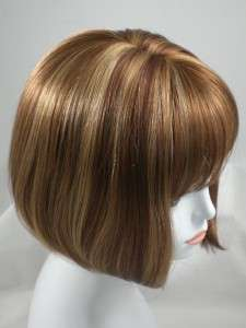 Red Short Straight Bob Style Wig w/Bangs  Denise Hairdo