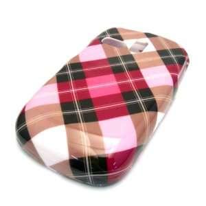 Samsung R355c Pink Brown Plaid Design Hard Case Cover Skin