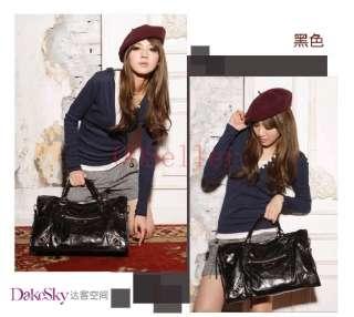 Color Woman Girl Satchel Shoulder Bag HANDBAG PURSE PU Leather BAG