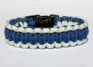 Paracord Survival Bracelet   Air Force   White & Blue