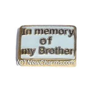 In Memory Of My Brother Floating Locket Charm Jewelry