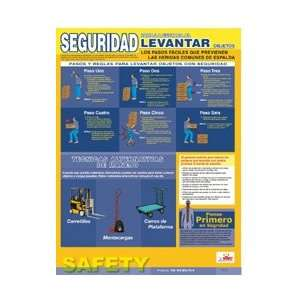 SPPST001   Poster, Back Lifting Safety, Spanish, 24 X 18