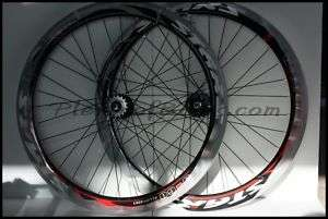 51mm Super Deep V Fixie Bike Wheelset Wheels Rim Silver