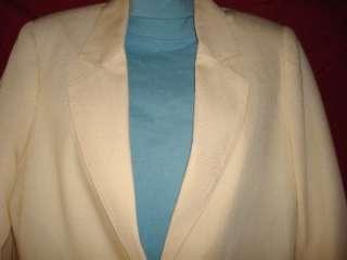 Womens Sag Harbor Cream Blazer Size 10