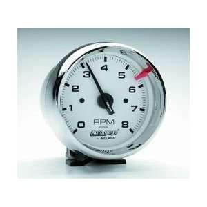 Auto Meter 2304 3 3/4IN WHITE FACE TACH  Automotive