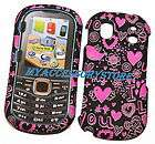 Samsung U460 Intensity 2 II I Love You Pink Hearts Desi